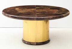 Karl Springer 1980s Lacquered Goatskin Dining Table Attributed to Karl Springer - 1663857