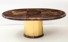 Karl Springer 1980s Lacquered Goatskin Dining Table Attributed to Karl Springer - 1663858