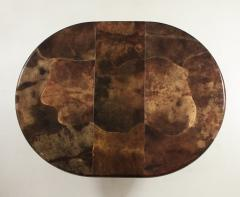 Karl Springer 1980s Lacquered Goatskin Dining Table Attributed to Karl Springer - 1663860