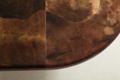 Karl Springer 1980s Lacquered Goatskin Dining Table Attributed to Karl Springer - 1663862