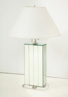 Karl Springer 20th Century Mirrored Lamp on Lucite Base - 899403