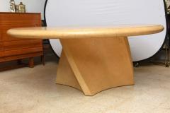 Karl Springer A Large American Modern Circular Goatskin Dining Table style of Karl Springer - 61107