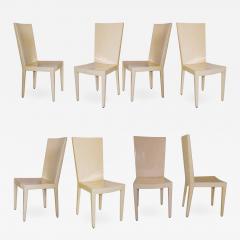 Karl Springer A Set of 8 Goatskin JMF Dining Chairs Karl Springer - 1172856