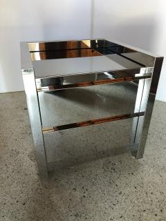 Karl Springer American Modern Highly Polished Stainless Steel Nightstand Karl Springer - 1429958