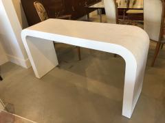 Karl Springer An American Modern White Murano Linen Console table Karl Springer - 1443395