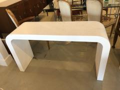 Karl Springer An American Modern White Murano Linen Console table Karl Springer - 1443401