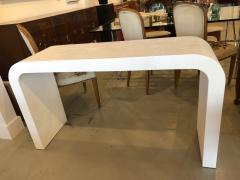 Karl Springer An American Modern White Murano Linen Console table Karl Springer - 1443402