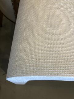 Karl Springer An American Modern White Murano Linen Console table Karl Springer - 1443403