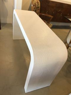 Karl Springer An American Modern White Murano Linen Console table Karl Springer - 1443404