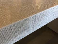 Karl Springer An American Modern White Murano Linen Console table Karl Springer - 1443405