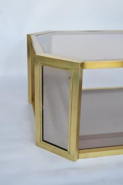 Karl Springer Brass Mirrored Karl Springer Coffee Table   230473