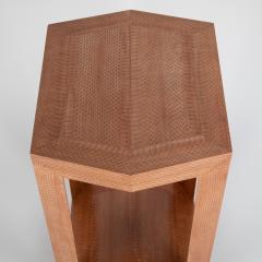 Karl Springer Cobra skin hexagonal side table by Karl Springer circa 2001 - 1075164