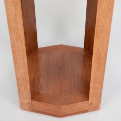 Karl Springer Cobra skin hexagonal side table by Karl Springer circa 2001 - 1075169