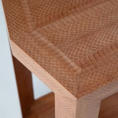 Karl Springer Cobra skin hexagonal side table by Karl Springer circa 2001 - 1075171