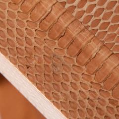 Karl Springer Cobra skin hexagonal side table by Karl Springer circa 2001 - 1075177