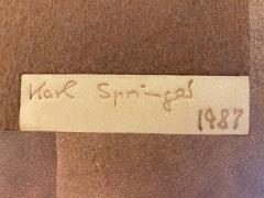 Karl Springer EXCEPTIONAL AND RARE SIGNED KARL SPRINGER LEATHER BENCH - 1910310