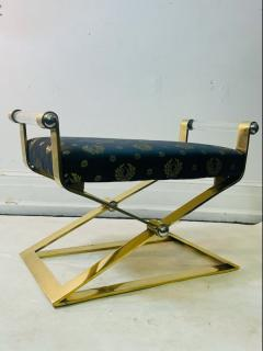Karl Springer EXCEPTIONAL MODERN PAIR OF BRASS AND LUCITE BENCHES - 2046980