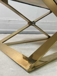 Karl Springer EXCEPTIONAL MODERN PAIR OF BRASS AND LUCITE BENCHES - 2046981