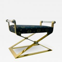 Karl Springer EXCEPTIONAL MODERN PAIR OF BRASS AND LUCITE BENCHES - 2053687