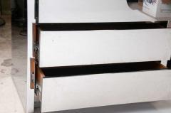 Karl Springer Fine Companion Pair American Modern Polished Stainless Highboys Karl Springer - 1657755