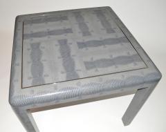 Karl Springer Game Table in Lizard by Karl Springer Signed - 1031842