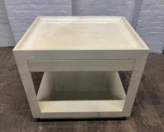 Karl Springer Goatskin Parchment Side Table by Karl Springer - 1046259