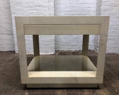 Karl Springer Goatskin Parchment Side Table by Karl Springer - 1046261