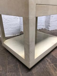 Karl Springer Goatskin Parchment Side Table by Karl Springer - 1046264