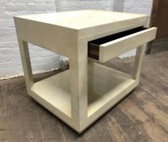 Karl Springer Goatskin Parchment Side Table by Karl Springer - 1046265