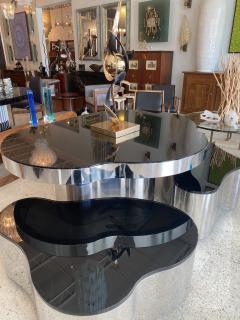 Karl Springer Important America Polished Steel Granite Free Form Dining Breakfast Table - 1683287