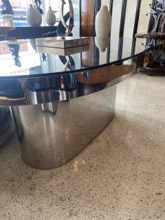 Karl Springer Important America Polished Steel Granite Free Form Dining Breakfast Table - 1683290