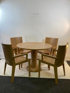 Karl Springer KARL SPRINGER JMK LIZARD EMBOSSED DINING TABLE AND CHAIRS - 1309103