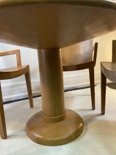 Karl Springer KARL SPRINGER JMK LIZARD EMBOSSED DINING TABLE AND CHAIRS - 1309107