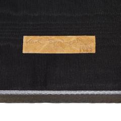 Karl Springer Karl Springer 2 Tier Hexagonal Side Table in Gray Cobra 1985 Signed  - 1922129