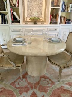 Karl Springer Karl Springer 48 Round Goatskin Dining or Center Table - 2125468