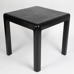 Karl Springer Karl Springer Angular Leg games table in lizard embossed leather 1987 - 1135956