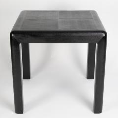 Karl Springer Karl Springer Angular Leg games table in lizard embossed leather 1987 - 1135957