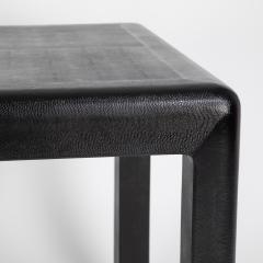 Karl Springer Karl Springer Angular Leg games table in lizard embossed leather 1987 - 1135959