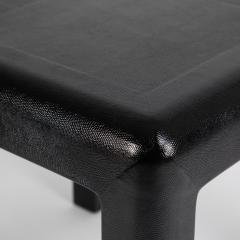 Karl Springer Karl Springer Angular Leg games table in lizard embossed leather 1987 - 1135964