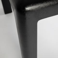 Karl Springer Karl Springer Angular Leg games table in lizard embossed leather 1987 - 1135973