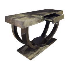 Karl Springer Karl Springer Art Deco Console Table in Lacquered Goat Skin 1970s - 1463327