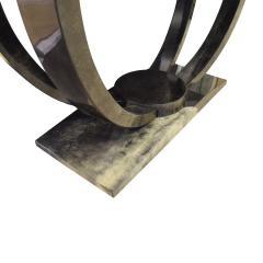 Karl Springer Karl Springer Art Deco Console Table in Lacquered Goat Skin 1970s - 1463329