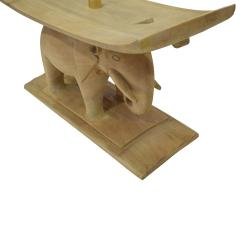 Karl Springer Karl Springer Authentic African Elephant Table with Floating Glass Top 1980s - 1699094