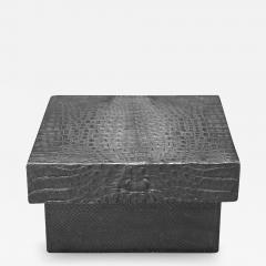 Karl Springer Karl Springer Box with Crocodile Cover 1970s - 2064730