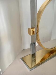 Karl Springer Karl Springer Brass and Chrome Table Mirror - 1710417