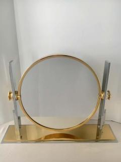 Karl Springer Karl Springer Brass and Chrome Table Mirror - 1710419