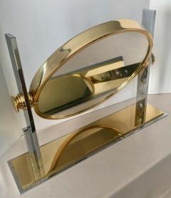 Karl Springer Karl Springer Brass and Chrome Table Mirror - 1710421