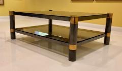 Karl Springer Karl Springer Brass and Gunmetal Coffee Table Signed - 1046945