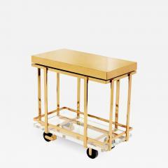 Karl Springer Karl Springer Brass and Lucite Bar Cart 1980s - 1966150