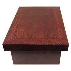 Karl Springer Karl Springer Burgundy Python Lidded Box 1980s - 969069